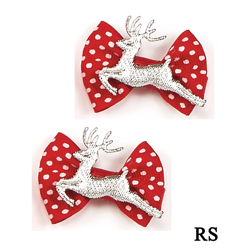 3908 Reindeer Bow Pair - Click Image to Close